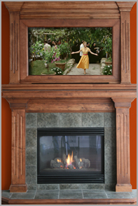 Hearth and Mantel Televisions