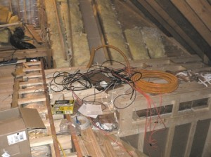 Dangerous Attic Wiring